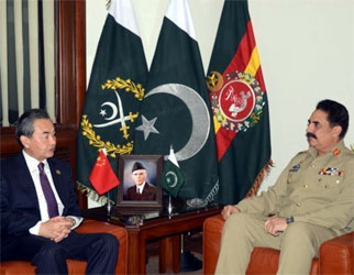 COAS, Chinese FM discuss bilateral defence, security cooperation