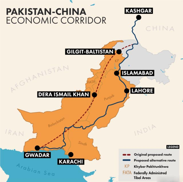 BOI identifies 15 sites along CPEC route to set up industrial zones