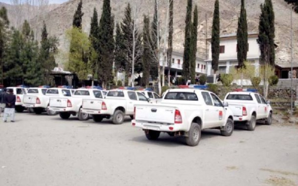 G-B receives 25 vehicles from Chinese govt for CPEC